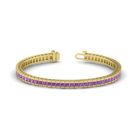 18K Yellow Gold Bracelet with Amethyst