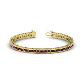18K Yellow Gold Bracelet with Rhodolite Garnet