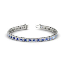 Palladium Bracelet with Sapphire & Diamond