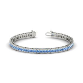 Palladium Bracelet with Blue Topaz