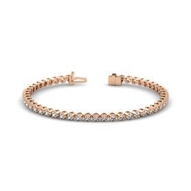 14K Rose Gold Bracelet with Aquamarine