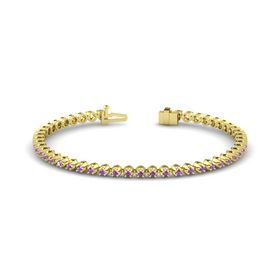 14K Yellow Gold Bracelet with Amethyst