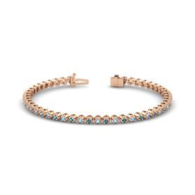 18K Rose Gold Bracelet with Blue Topaz and London Blue Topaz