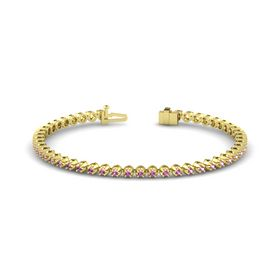 18K Yellow Gold Bracelet with Pink Sapphire