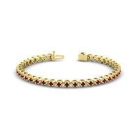 14K Yellow Gold Bracelet with Ruby