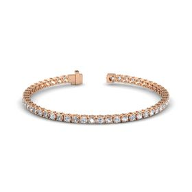 14K Rose Gold Bracelet with Rock Crystal and Diamond