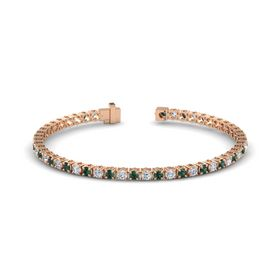 14K Rose Gold Bracelet with Alexandrite and Diamond