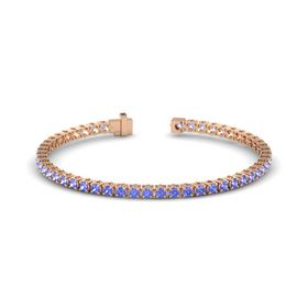 14K Rose Gold Bracelet with Tanzanite