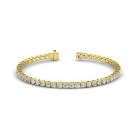 14K Yellow Gold Bracelet with Diamond