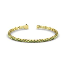 14K Yellow Gold Bracelet with Green Tourmaline