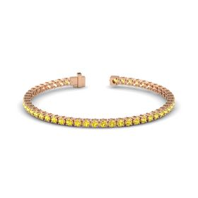 18K Rose Gold Bracelet with Yellow Sapphire