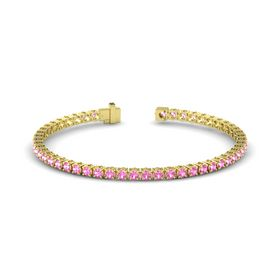 18K Yellow Gold Bracelet with Pink Tourmaline