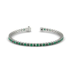 Palladium Bracelet with Alexandrite and Emerald