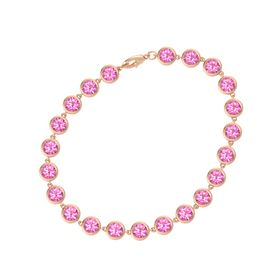 14K Rose Gold Bracelet with Pink Tourmaline