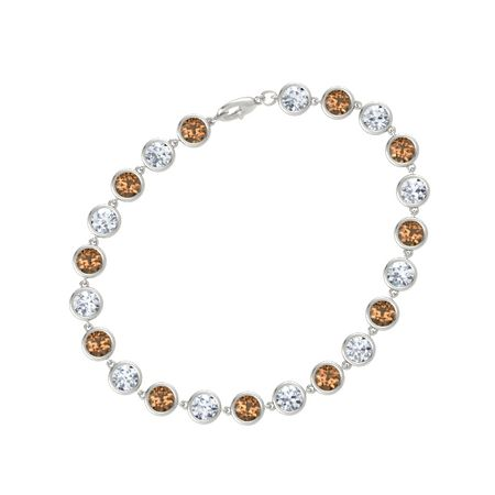 Gemstones By The Yard Twenty-Two Stone Bracelet