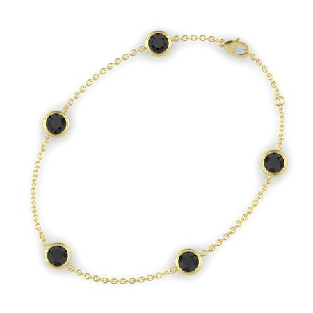 Gemstones By The Yard Five Stone Bracelet