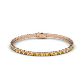 14K Rose Gold Bracelet with Yellow Sapphire and Citrine
