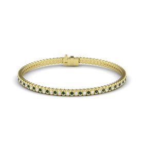 14K Yellow Gold Bracelet with Alexandrite and White Sapphire