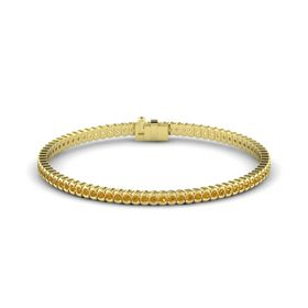 18K Yellow Gold Bracelet with Citrine
