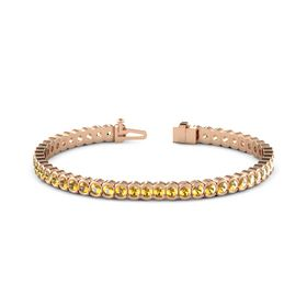 14K Rose Gold Bracelet with Citrine