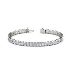 14K White Gold Bracelet with Diamond