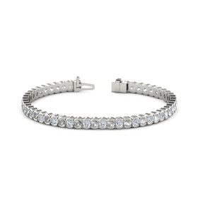 Palladium Bracelet with Rock Crystal and Diamond