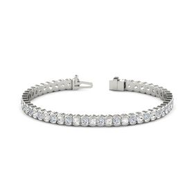 Platinum Bracelet with White Sapphire and Diamond