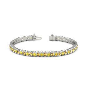 Platinum Bracelet with Yellow Sapphire and Citrine