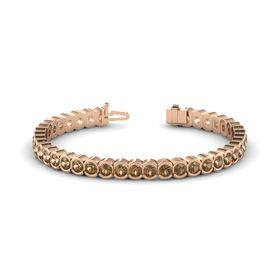 14K Rose Gold Bracelet with Smoky Quartz