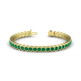14K Yellow Gold Bracelet with Emerald
