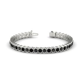 Platinum Bracelet with Black Onyx and Black Diamond
