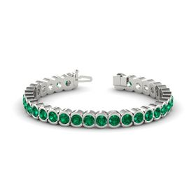 Palladium Bracelet with Emerald