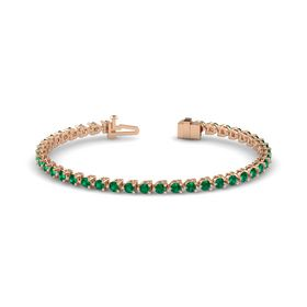 14K Rose Gold Bracelet with Emerald