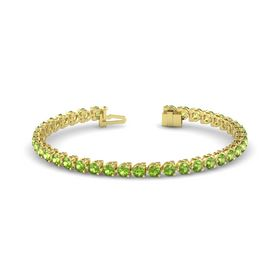 14K Yellow Gold Bracelet with Peridot