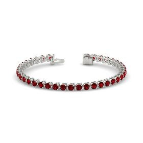 Platinum Bracelet with Ruby