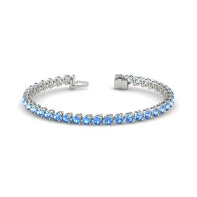 Platinum Bracelet with Blue Topaz