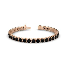 14K Rose Gold Bracelet with Black Onyx