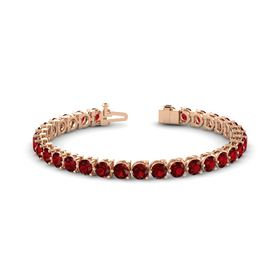 14K Rose Gold Bracelet with Ruby