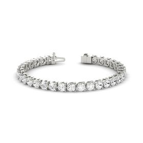 14K White Gold Bracelet with White Sapphire