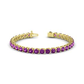 14K Yellow Gold Bracelet with Rhodolite Garnet