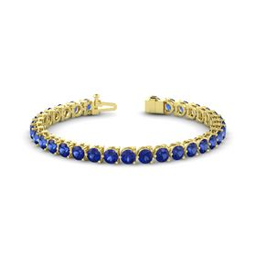 14K Yellow Gold Bracelet with Sapphire