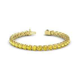 14K Yellow Gold Bracelet with Yellow Sapphire