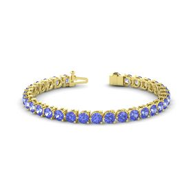 14K Yellow Gold Bracelet with Tanzanite