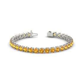 18K White Gold Bracelet with Citrine