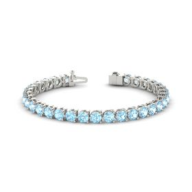Platinum Bracelet with Aquamarine