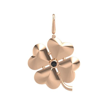 Four-Leaf Clover Gem Charm