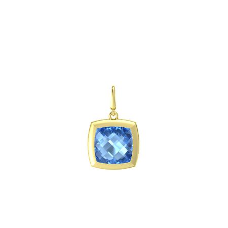 Pure Cushion Gem Charm