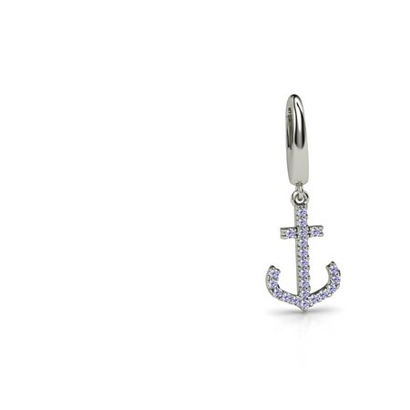 Petite Pave Anchor Charm