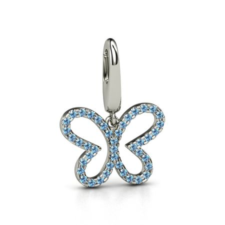 Petite Pave Butterfly Charm