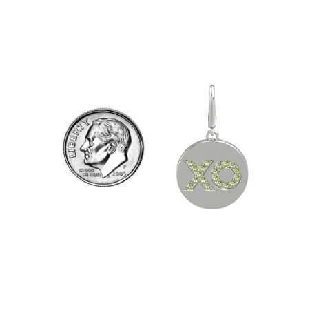 XO Gem Disc Charm